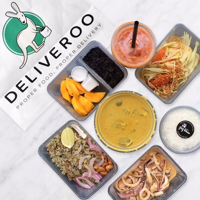 Delicious Thai Food delivered straight to my belly, thanks to Deliveroo x Burpple!