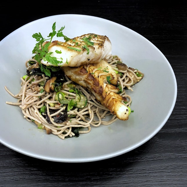 Roasted Cod & Soba Noodle Salad $24