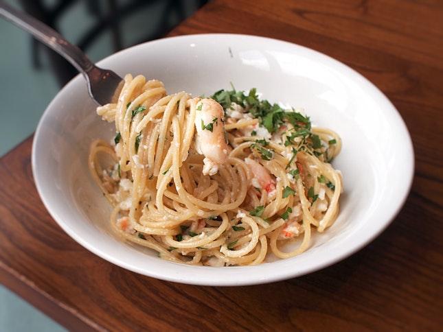 Spanner Crab Spaghetti $29