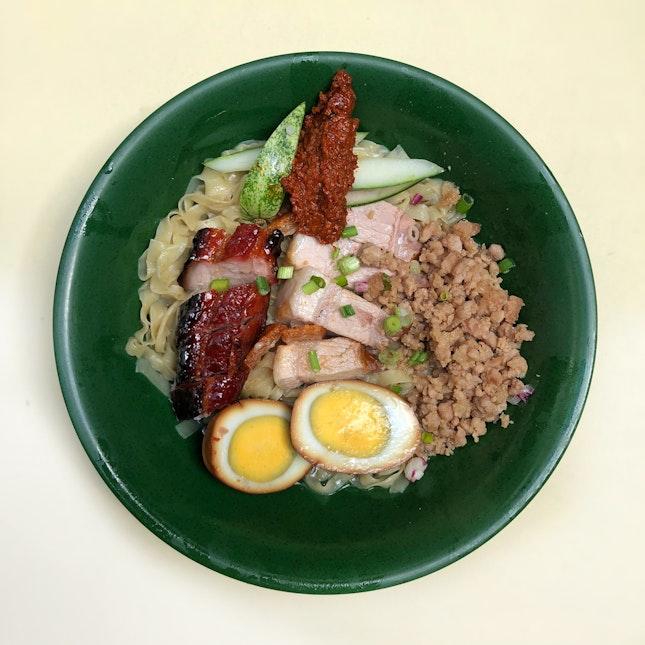 Char Siew And Roast Pork Belly Hakka Noodles $6.2