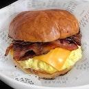 Eggs & Bacon Cheese Burger $13.9