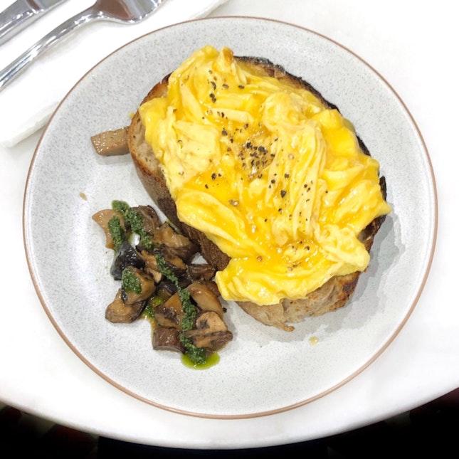 Scrambled Free Range Egg Tartine $14