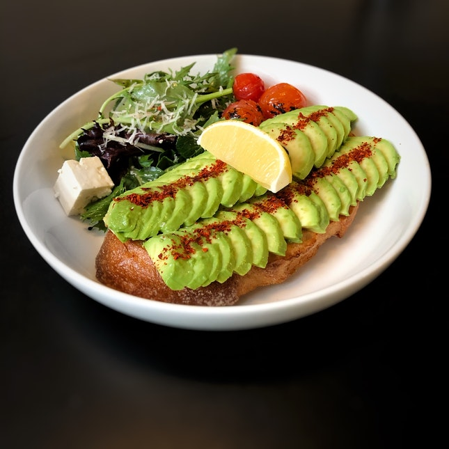 Fresh Avocado On Toast $16