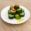 Cucumber w/ Spicy Garlic Dressing $4.3