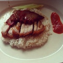 Roasted pork rice #breakfast