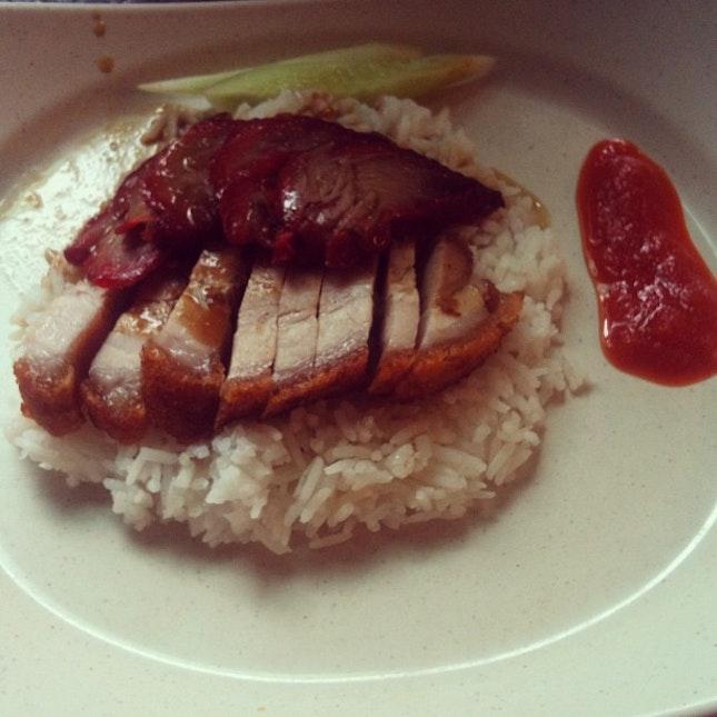 Roasted pork rice #breakfast