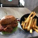 Har Cheong Gai Burger And Fries!