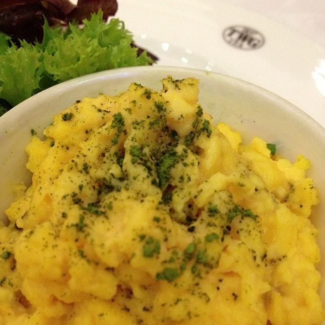 Scrambled Eggs w/ Matcha