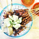 Not only did we eat claypot rice and hokkien mee, we also shared a plate of pork belly satay from Kwong Satay.