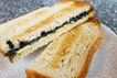 Interesting Black Sesame Butter and Custard Toast by Cedele!
