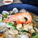 Seafood Noodles With a Boozy Twist