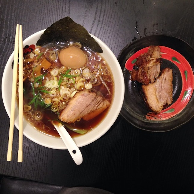 Came over for second round of ramen and tried out their classic range with Soy sauce soup base.
