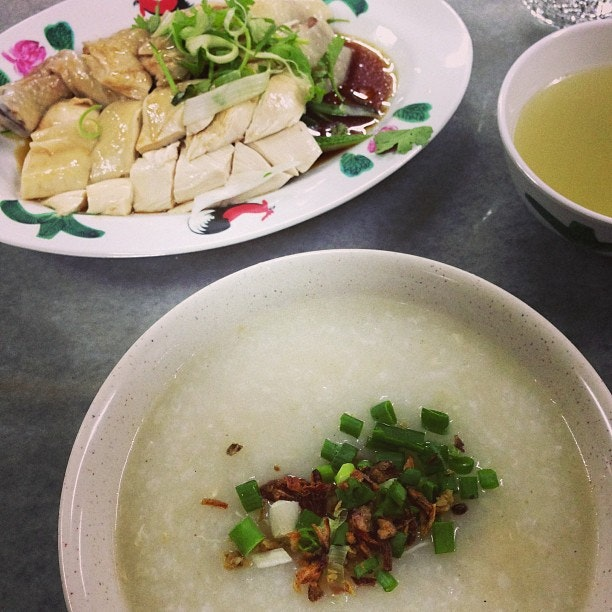Light meal for #dinner #chicken #porridge #steamed #chicken
