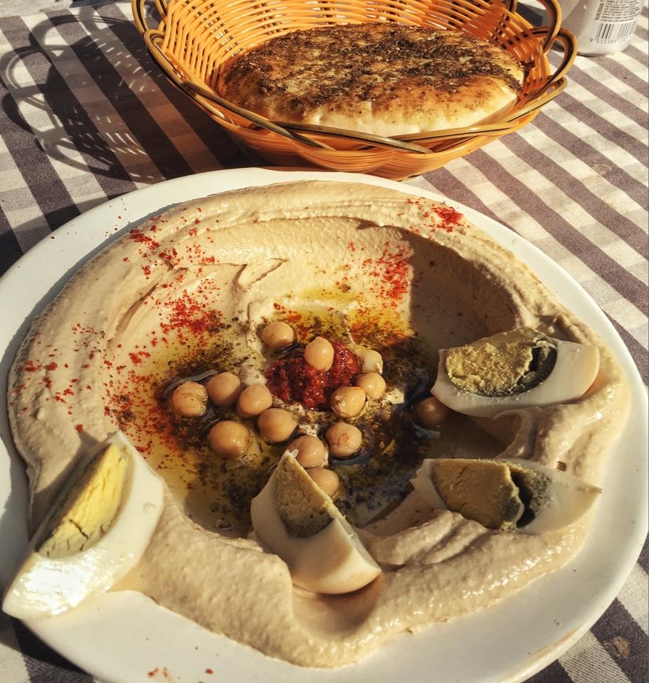 Za'atar Pita, Homemade Hummus