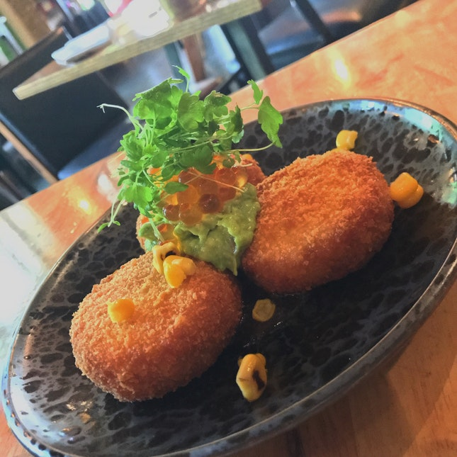 Crab and Corn Croquettes