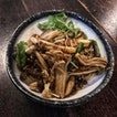 Enoki Mushroom Stir Fried in Chinese Wine