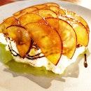 Burrata with Hazelnut & Sliced Plum