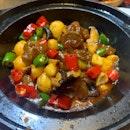 Pork Tendon Fried Quail Egg Pot 炸鵪鶉蛋蹄筋煲