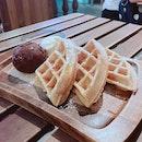 Waffle with Ice Cream ($11.90)