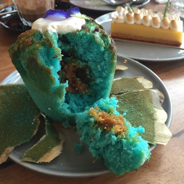 Pea Flower Coconut Muffin