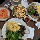 Eggs On Toast, The Works And Truffle Shoestring Fries