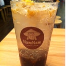 Ice Soda With Peanut And Sesame Seeds With Tamarind