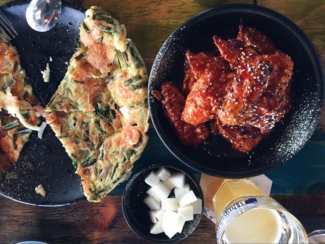 Seafood And Green Onion Pancake, Crunch Sauced Original (Half)