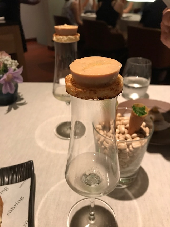 Hungarian Duck Liver, Atop A Glass Of Riesling