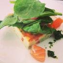 Vegetable frittata with spinach and smoked salmon #foodporn #foodoftheday #instalove #iphonesia #instadaily #italian #luxbite
