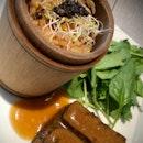 Blue Pea Tofu & Truffle Wild Rice