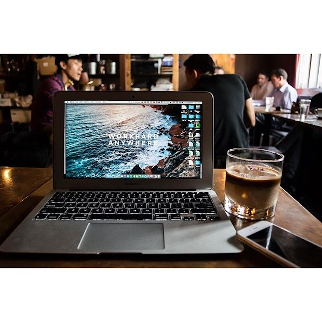 Favourite #WorkHardAnywhere situations at Dapper Coffee.