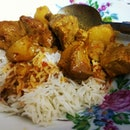 13 May 2014 - Homecooked dinner : pork curry with potatoes.
