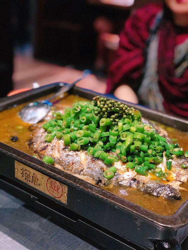 Grilled Limbo Fish With Green Pepper
