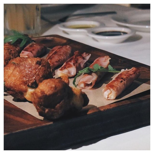 These deep fried Antipasti goodness are the best start to dinner!