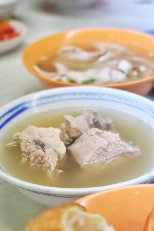Pork Ribs Soup ($7) & Sliced Pork Loin Soup ($7)