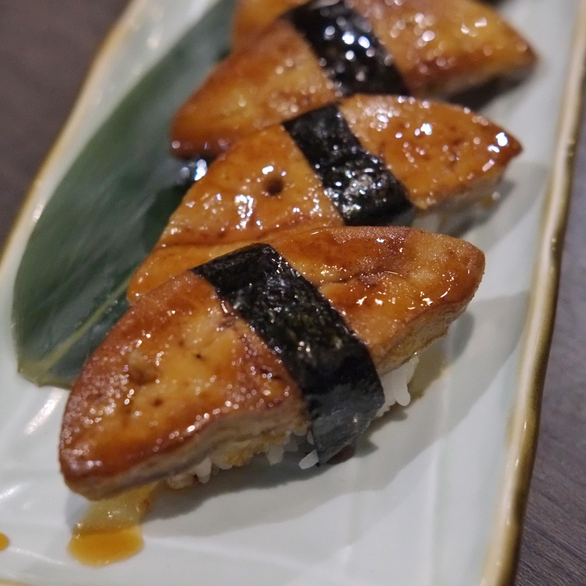 Foie Gras Sushi ($15.80 for 2)