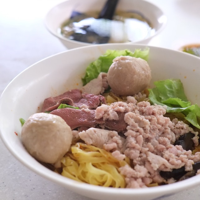 Bak Chor Mee ($3) + $1 For The Meatballs