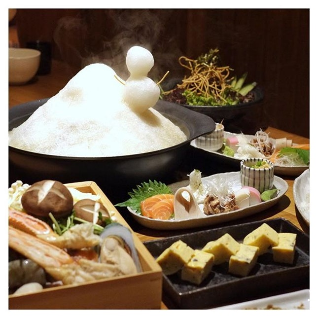 Warming up this Friday thinking about @fujisobasingapore's Ice Hot Pot ($28++ per person, with a minimum of 2 pax).