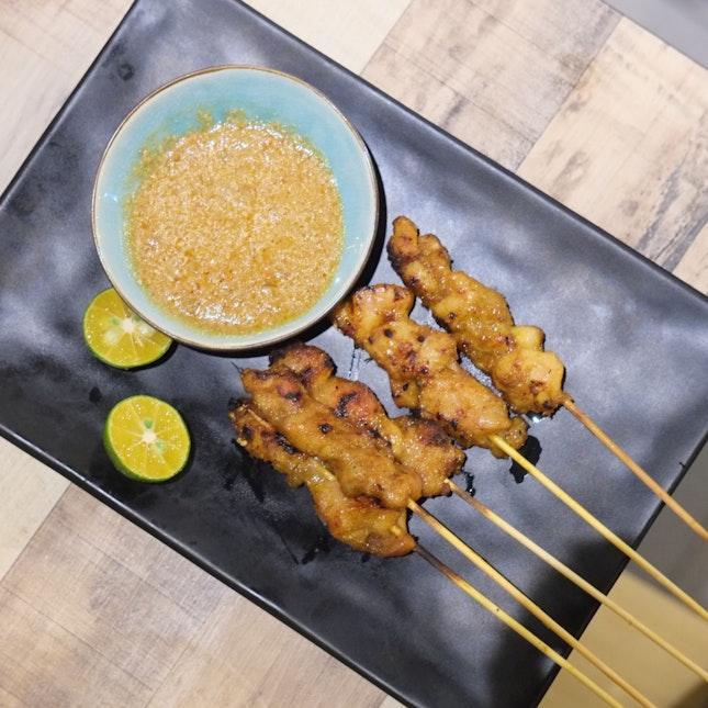 Chicken Satay 海南鸡肉 ($1.30/Stick, Min Order Of 4pcs)