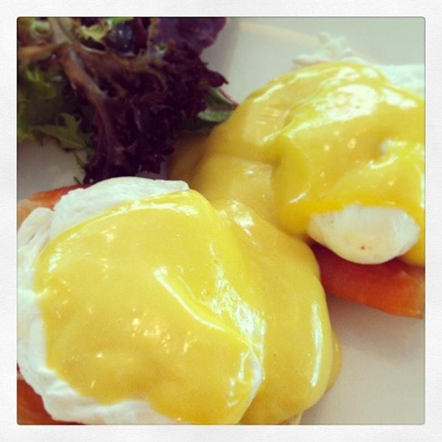 Eggs royale at #canopybarandrestaurant #brunch #birthday