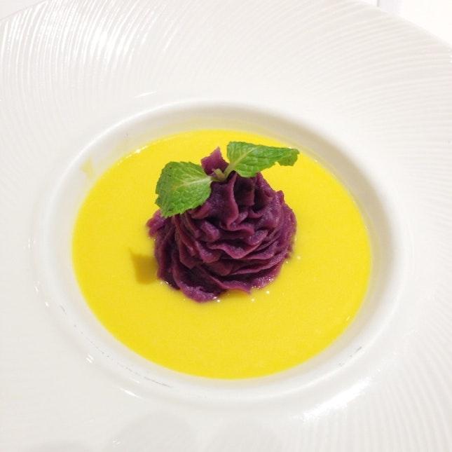 Purple Sweet Potato Cream In Pumpkin Sauce