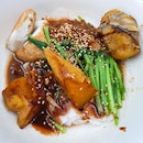 Yong Tau Fu Chee Cheong Fun with Sweet Sauce and Chilli