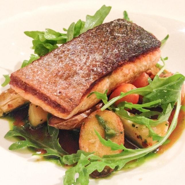 Slow-cooked Scottish Salmon