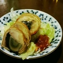 Smoked Chicken With Century Egg