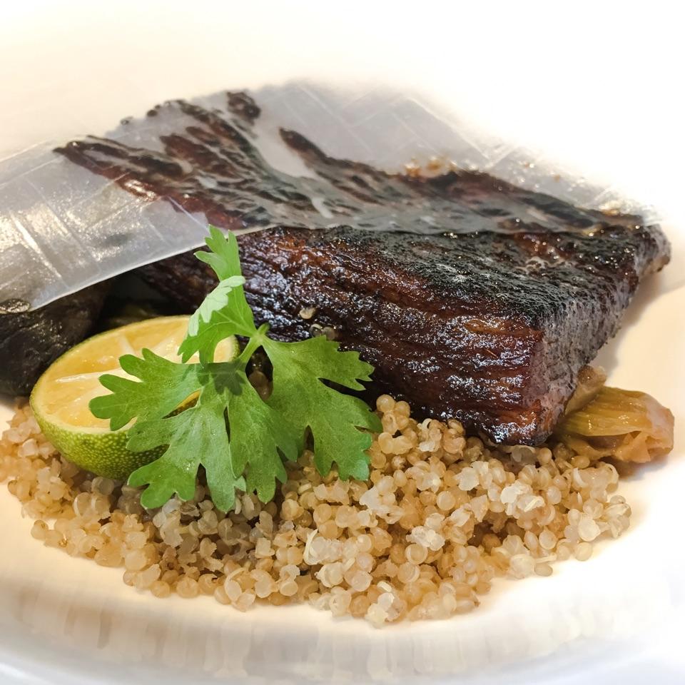 Iberico Pork Char Siew with Shanghai Kao Cai & Quinoa