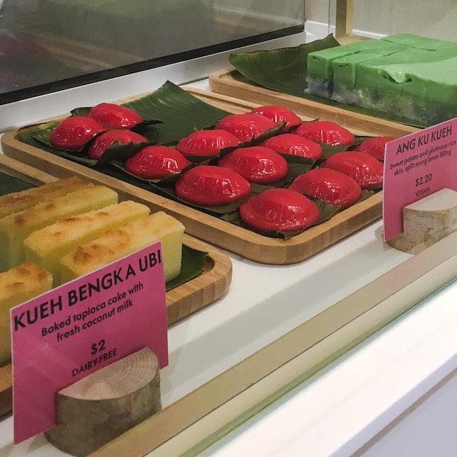 Freshly-baked Nyonya Kueh at Cavan Road