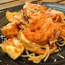 Tomato Cream Seafood Pasta