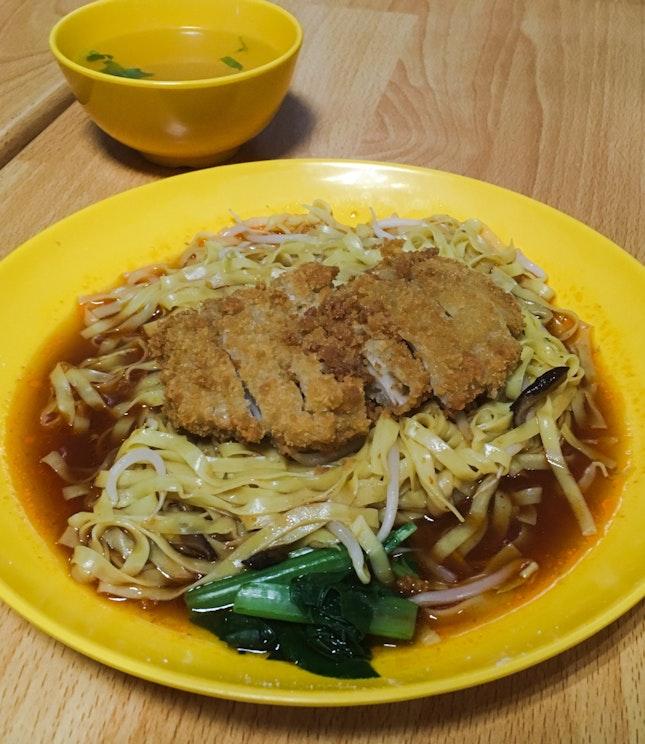 Chicken Cutlet Noodles