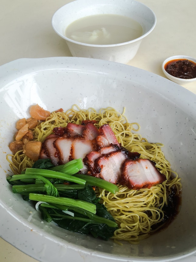 Noodle with Char Siew and Wanton