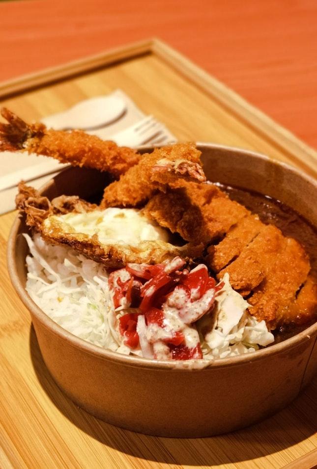 Pork Katsu Ebi Curry Rice